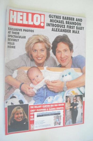 <!--1993-02-06-->Hello! magazine - Glynis Barber and Michael Brandon cover