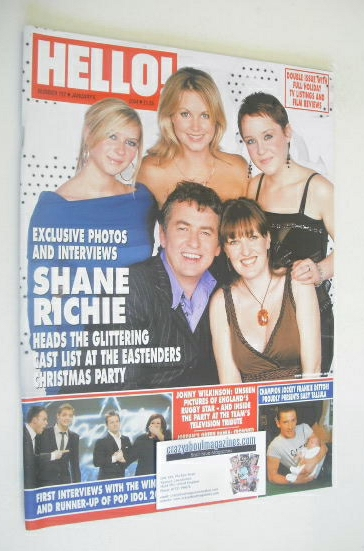 <!--2004-01-06-->Hello! magazine - Shane Richie cover (6 January 2004 - Iss