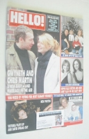 <!--2003-12-16-->Hello! magazine - Gwyneth Paltrow and Chris Martin cover (16 December 2003 - Issue 795)