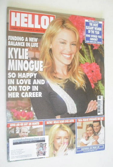 <!--2003-11-25-->Hello! magazine - Kylie Minogue cover (25 November 2003 -