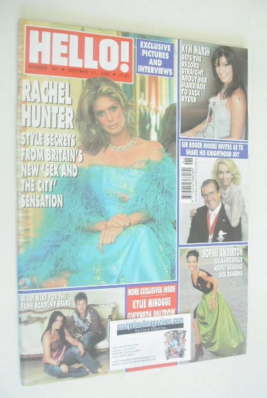 <!--2003-10-21-->Hello! magazine - Rachel Hunter cover (21 October 2003 - I