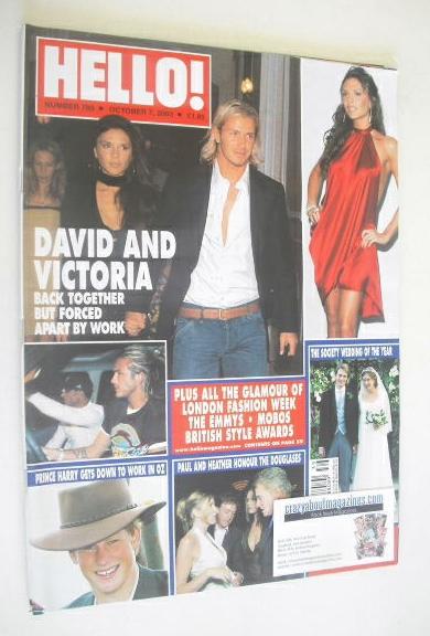 <!--2003-10-07-->Hello! magazine - David Beckham and Victoria Beckham cover