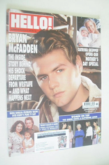 <!--2004-03-23-->Hello! magazine - Bryan McFadden cover (23 March 2004 - Is