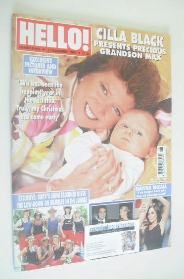 <!--2004-12-07-->Hello! magazine - Cilla Black cover (7 December 2004 - Iss