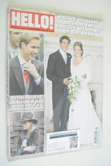 <!--2004-11-16-->Hello! magazine - Edward Van Cutsem wedding cover (16 Nove