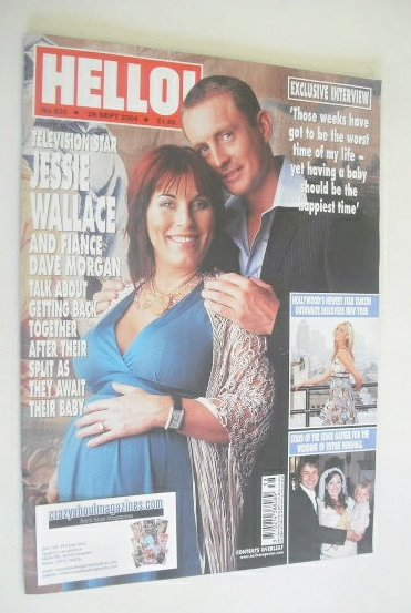 <!--2004-09-28-->Hello! magazine - Jessie Wallace and Dave Morgan cover (28
