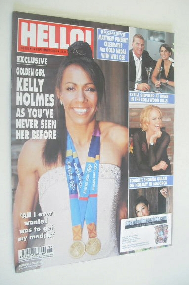<!--2004-09-14-->Hello! magazine - Kelly Holmes cover (14 September 2004 -