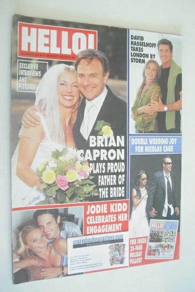 <!--2004-08-17-->Hello! magazine - Brian Capron cover (17 August 2004 - Iss