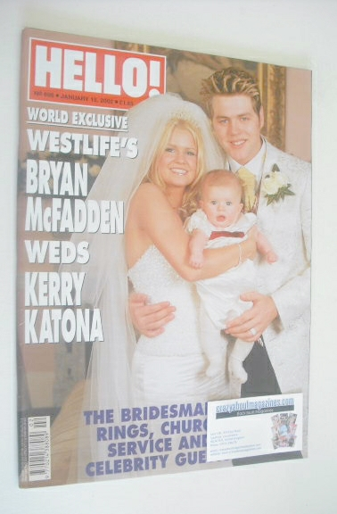 <!--2002-01-15-->Hello! magazine - Bryan McFadden and Kerry Katona wedding