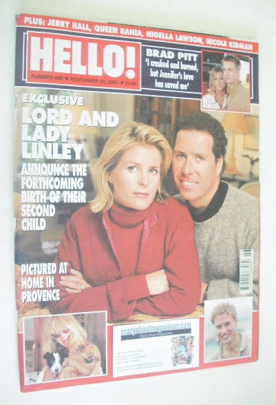 <!--2001-11-20-->Hello! magazine - David Linley and Serena Linley cover (20