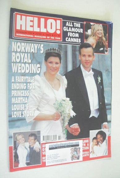 <!--2002-06-04-->Hello! magazine - Princess Martha Louise and Ari Behn wedd