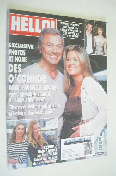 <!--2004-07-27-->Hello! magazine - Des O'Connor and Jodie Brooke Wilson cov