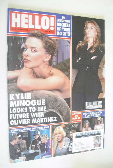 <!--2004-03-30-->Hello! magazine - Kylie Minogue cover (30 March 2004 - Iss