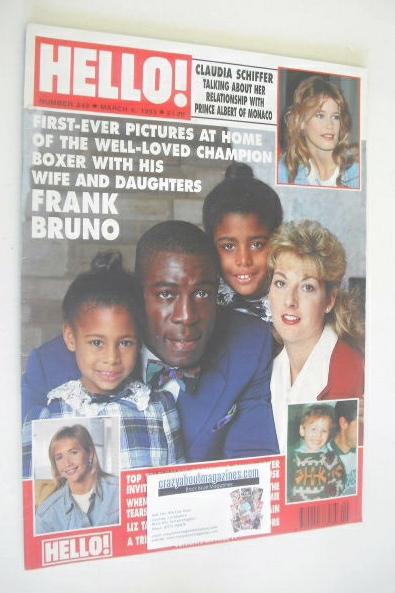 <!--1993-03-06-->Hello! magazine - Frank Bruno cover (6 March 1993 - Issue