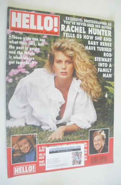 <!--1993-01-23-->Hello! magazine - Rachel Hunter cover (23 January 1993 - I