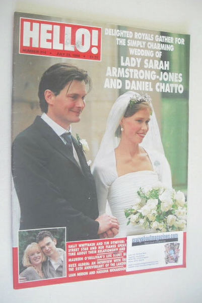 <!--1994-07-23-->Hello! magazine - Lady Sarah Armstrong-Jones and Daniel Ch