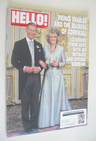 <!--2005-04-21-->Hello! magazine - Prince Charles and Camilla wedding cover