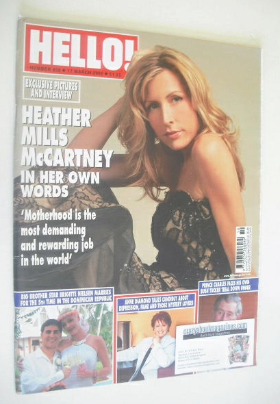 <!--2005-03-17-->Hello! magazine - Heather Mills McCartney cover (17 March