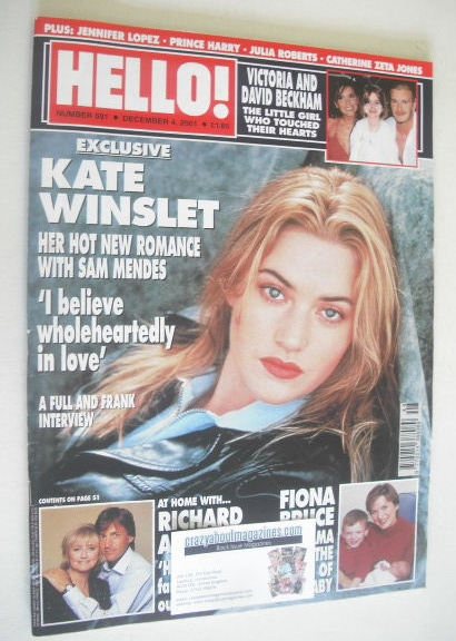 <!--2001-12-04-->Hello! magazine - Kate Winslet cover (4 December 2001 - Is