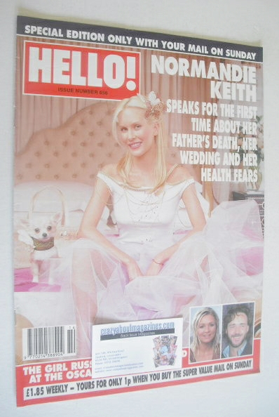 <!--2001-04-03-->Hello! magazine - Normandie Keith cover (3 April 2001 - Is