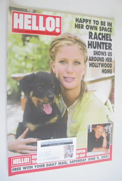 <!--2001-06-09-->Hello! magazine - Rachel Hunter cover (9 June 2001 - Issue