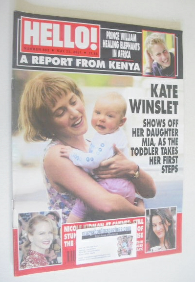 <!--2001-05-22-->Hello! magazine - Kate Winslet and daughter Mia cover (22