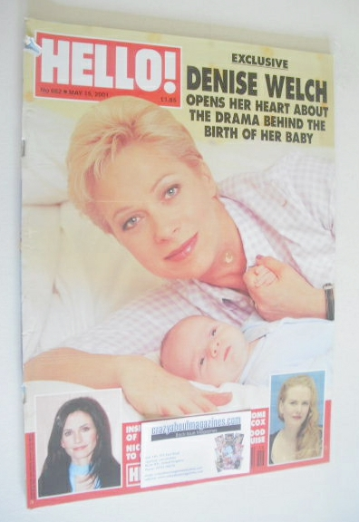 <!--2001-05-15-->Hello! magazine - Denise Welch cover (15 May 2001 - Issue