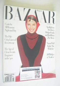 Harper's Bazaar magazine - November 1993 - Christy Turlington cover