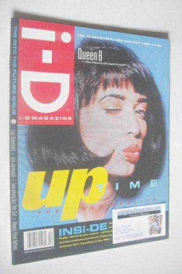 <!--1989-12-->i-D magazine - Queen B cover (December 1989/January 1990 - Is