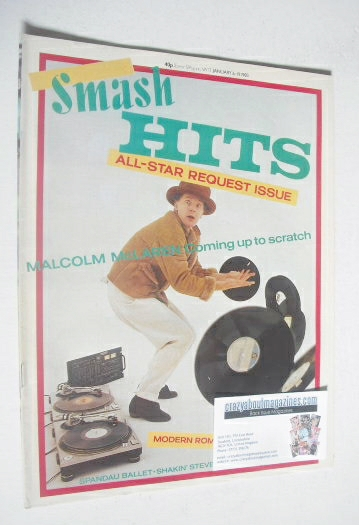 <!--1983-01-06-->Smash Hits magazine - Malcolm McLaren cover (6-19 January
