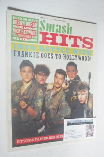<!--1984-04-26-->Smash Hits magazine - Frankie Goes To Hollywood cover (26