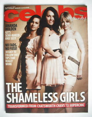<!--2010-01-24-->Celebs magazine - Joanna Higson, Rebecca Atkinson and Sall