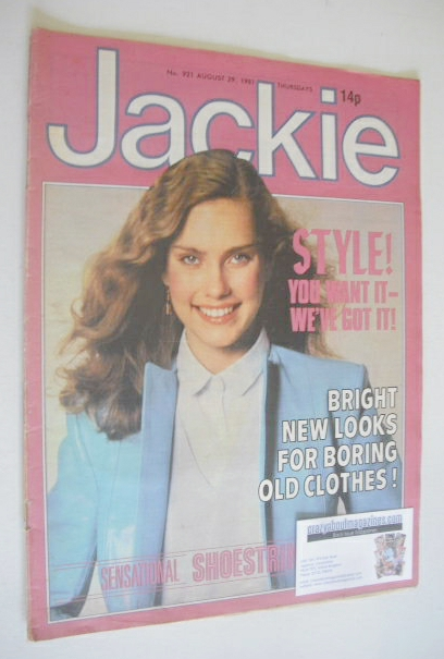 <!--1981-08-29-->Jackie magazine - 29 August 1981 (Issue 921)