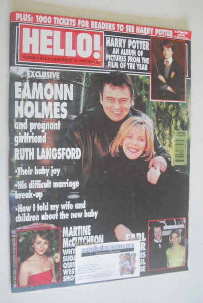 <!--2001-11-13-->Hello! magazine - Eamonn Holmes and Ruth Langsford cover (