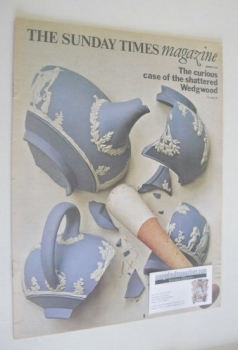 The Sunday Times magazine - The Curious Case Of The Shattered Wedgwood cover (8 January 1967)