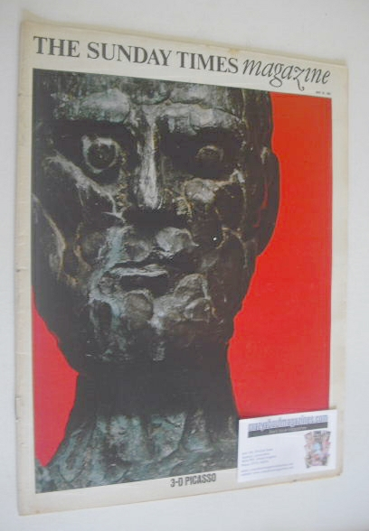 <!--1967-05-28-->The Sunday Times magazine - 3-D Picasso cover (28 May 1967