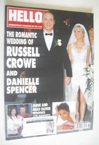 <!--2003-04-22-->Hello! magazine - Russell Crowe and Danielle Spencer weddi