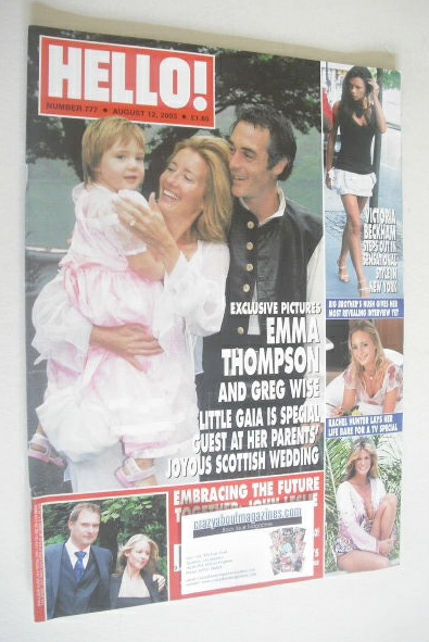 <!--2003-08-12-->Hello! magazine - Emma Thompson and Greg Wise cover (5 Aug