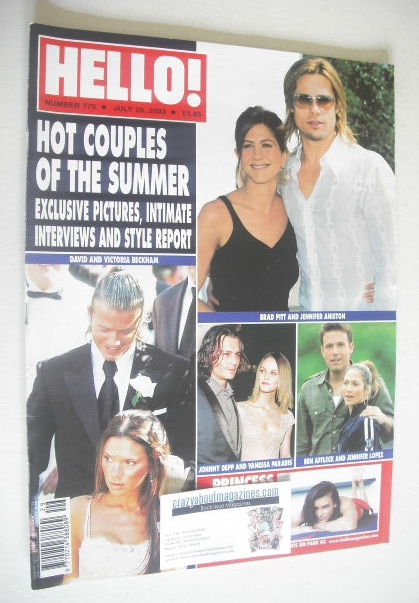 <!--2003-07-29-->Hello! magazine - Hot Couples of Summer cover (29 July 200