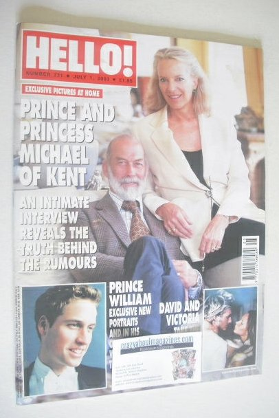 <!--2003-07-01-->Hello! magazine - Prince and Princess Michael Of Kent cove