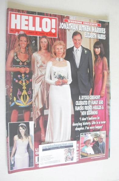 <!--2003-07-08-->Hello! magazine - Jonathan Aitken wedding cover (8 July 20