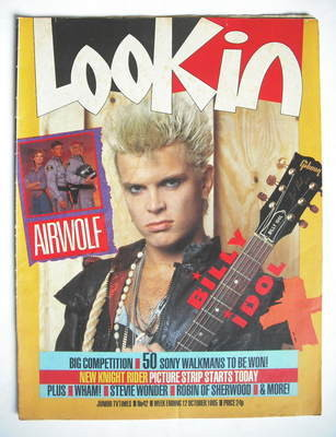 <!--1985-10-12-->Look In magazine - Billy Idol cover (12 October 1985)