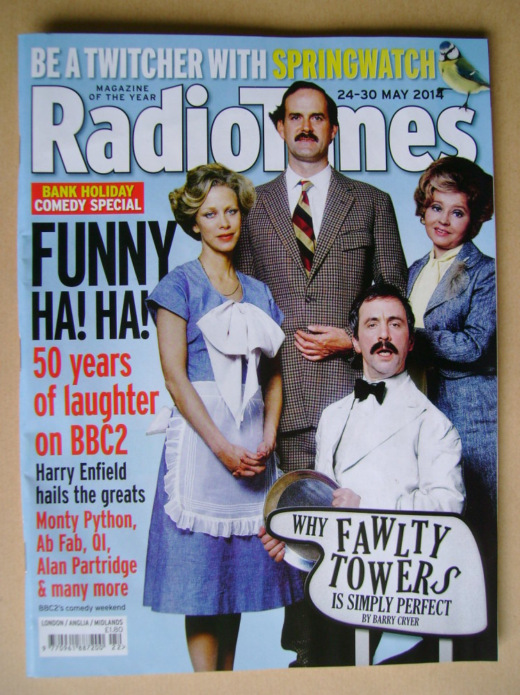 <!--2014-05-24-->Radio Times magazine - Fawlty Towers cover (24-30 May 2014
