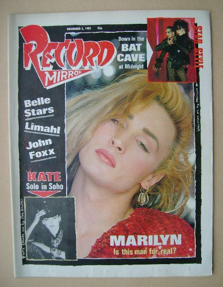 <!--1983-11-05-->Record Mirror magazine - Marilyn cover (5 November 1983)