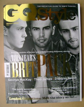 British GQ Style magazine - Spring/Summer 2014 - George MacKay, Theo James, Douglas Booth cover
