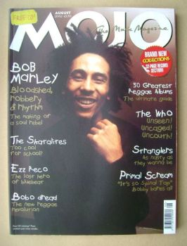 MOJO magazine - Bob Marley cover (August 2002 - Issue 105)