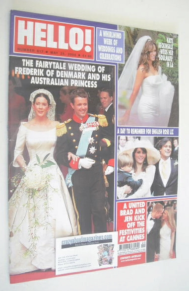 <!--2004-05-25-->Hello! magazine - Crown Prince Frederik of Denmark wedding