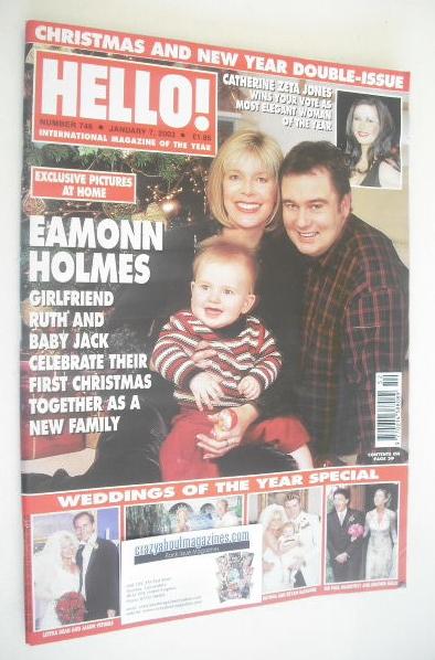 <!--2003-01-07-->Hello! magazine - Eamonn Holmes, Ruth and Jack cover (7 Ja