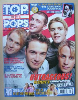 Top Of The Pops magazine - Westlife cover (August 2000)