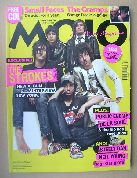 <!--2003-09-->MOJO magazine - The Strokes cover (September 2003 - Issue 118